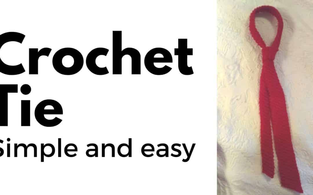 Simple and Easy Crochet Tie