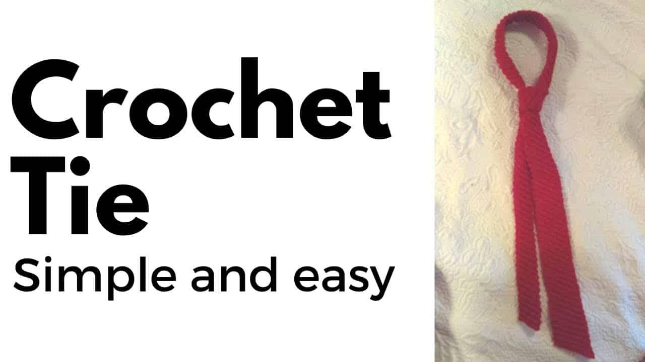 crochet tie video tutorial