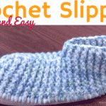 Super Quick, Easy Crochet Slippers