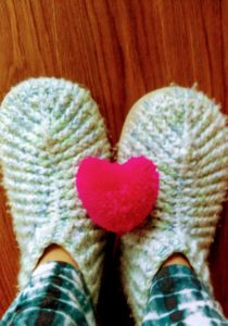 Heart Puff and Slippers
