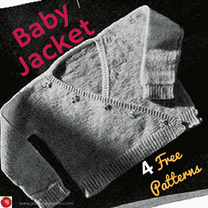 4 Free Vintage Baby Jacket Patterns