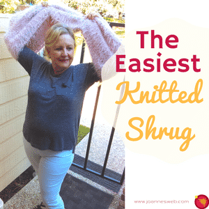 The Easiest Knitted Shrug