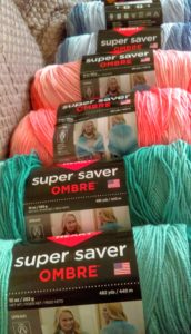 Red Heart Ombre Yarn photos