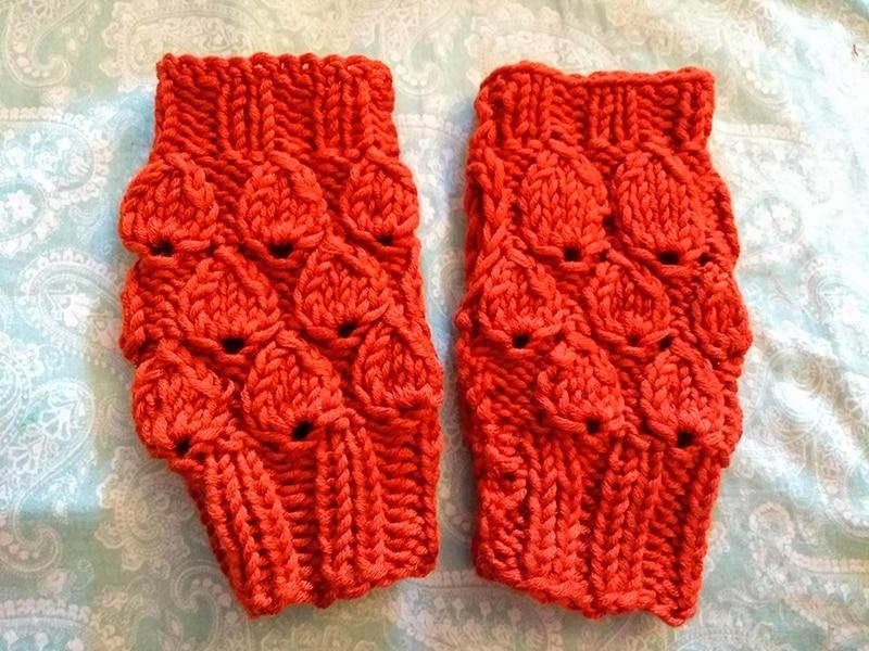 Knitted Drops Fingerless Gloves