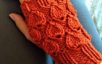 Knitted Drops Fingerless Gloves- Free Pattern