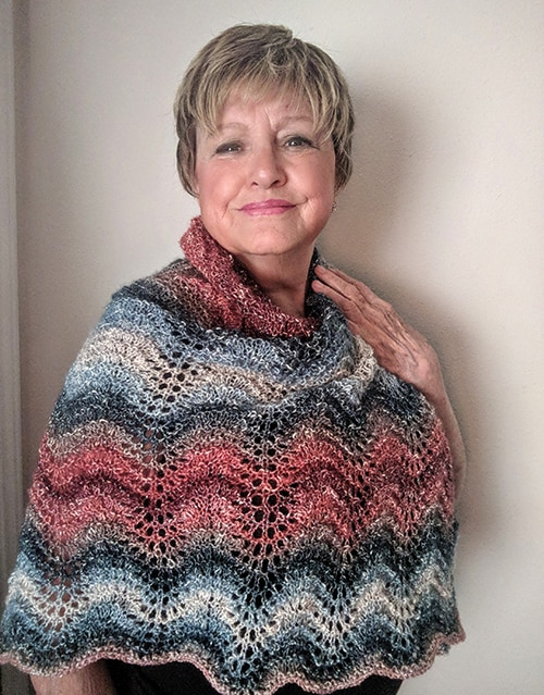 Feather and Fan Knitted Shawl Instructions