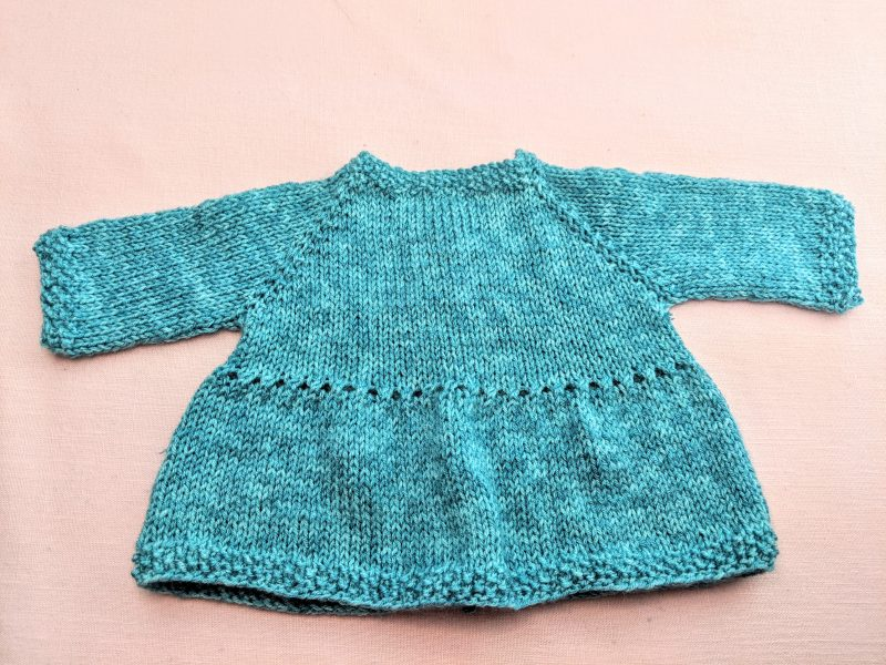 Knitted Baby Dress Coat Instructions