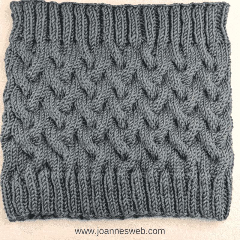 Knitted Cable Infinity Scarf
