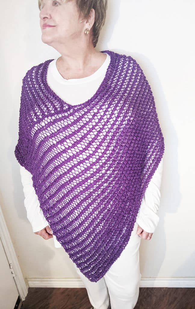 One Piece Knitted Poncho