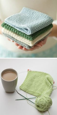 Practice The Spike Trellis Knitting Stitch with Dishcloths