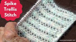 Spike Trellis Knitting Stitch