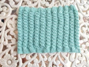 Knitted Lotus FLower Infinity Scar