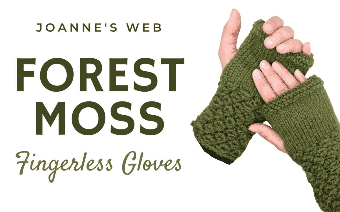 Forest Moss Knitted Fingerless Gloves Tutorial