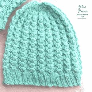 Knitted Lotus Flower Beanie Hat Tutorial