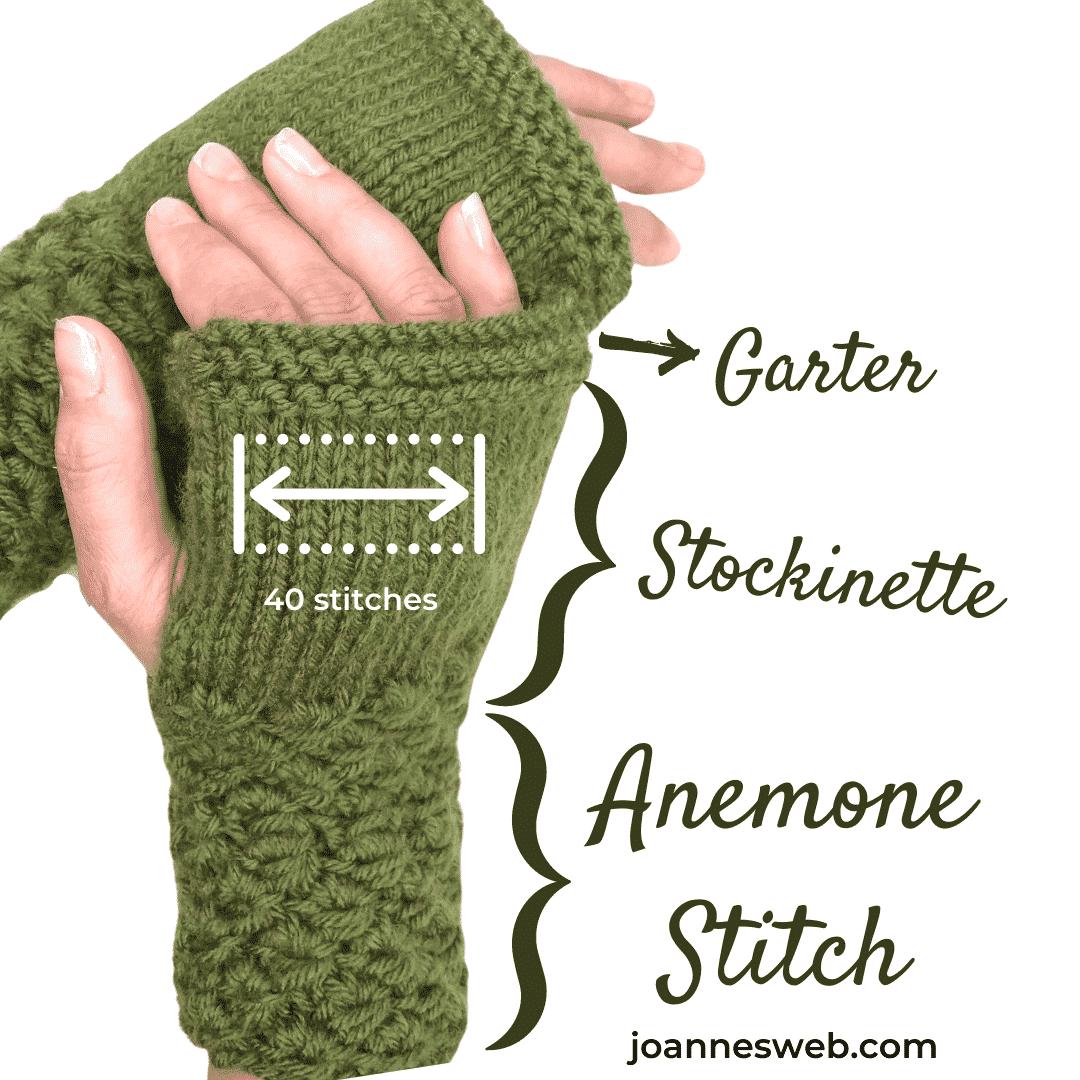 Forest Moss Fingerless Gloves