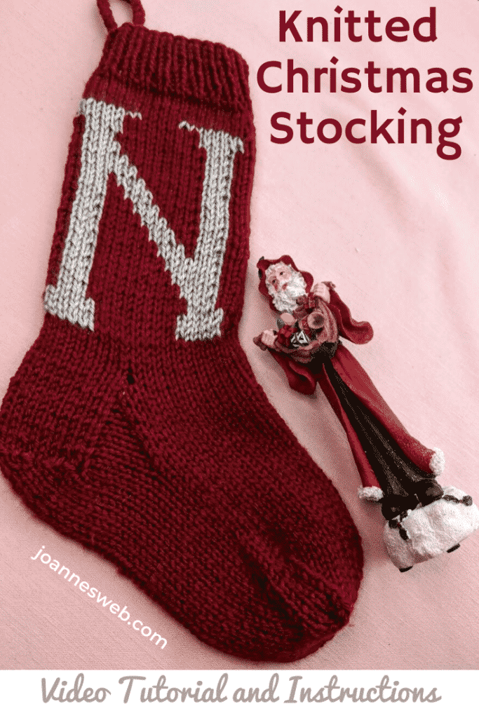 Knitted Christmas Stocking Monogrammed