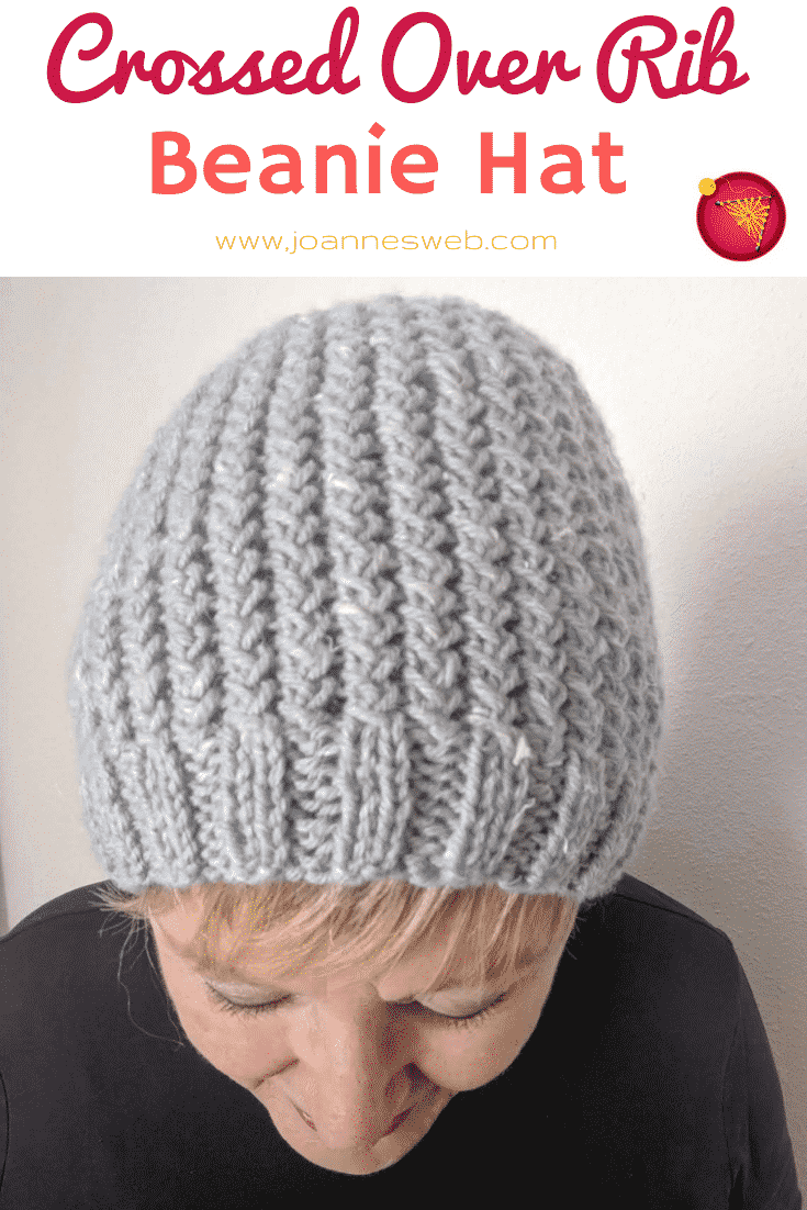 Crossed-Over Rib Knitted Beanie Pattern