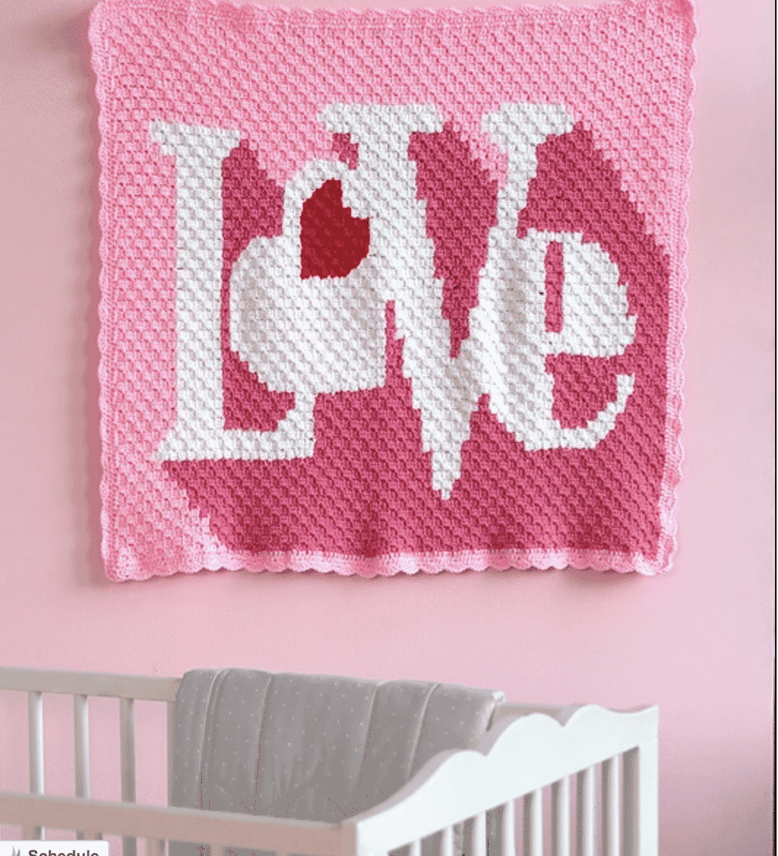Love Crochet Blanket