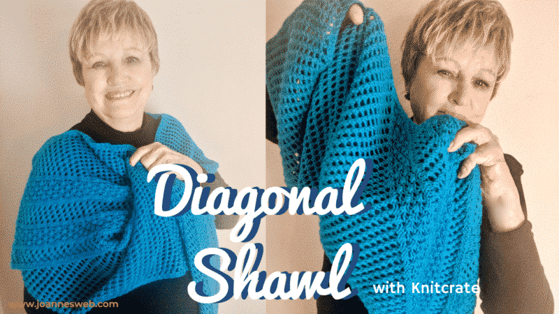 Diagonal Knitted Shawl Pattern Instructions