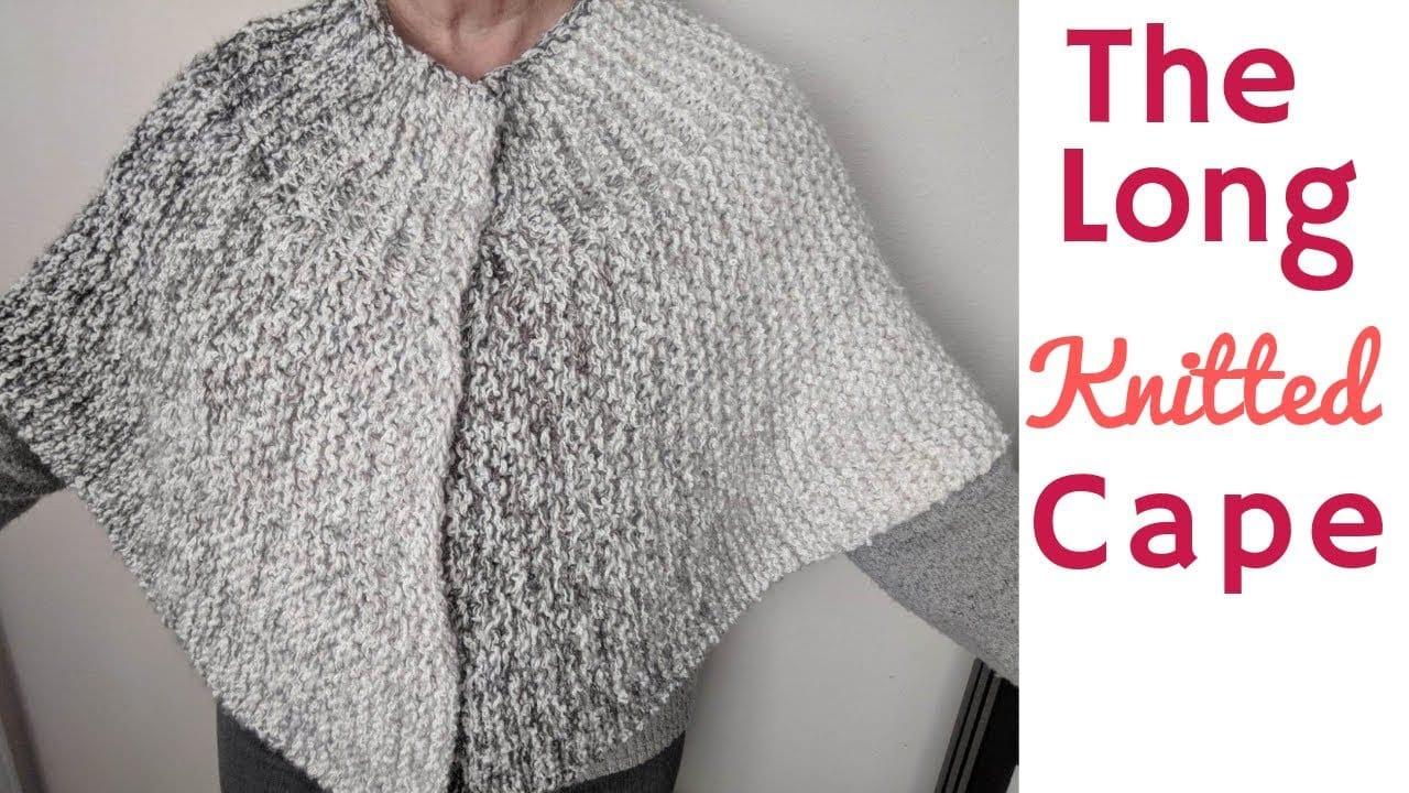 Long Capelet Knitting