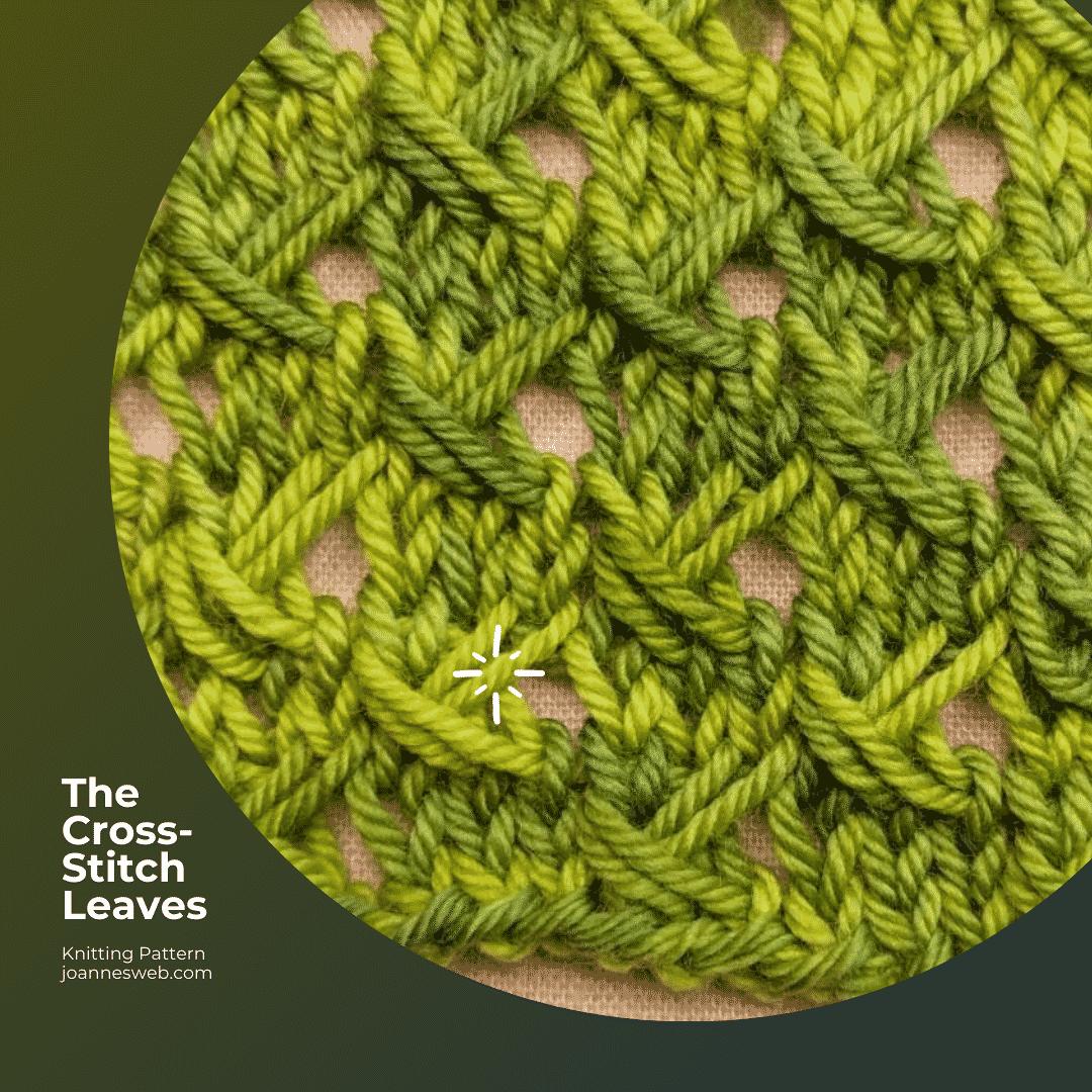 Cross Stitch Leaves Knitting Pattern