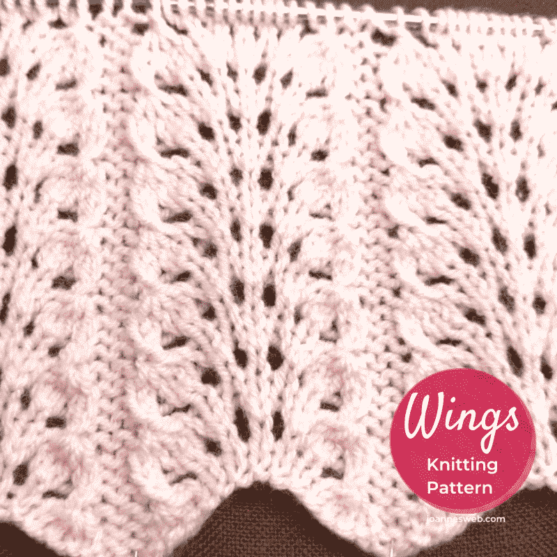 Wings Knitting Stitch Pattern