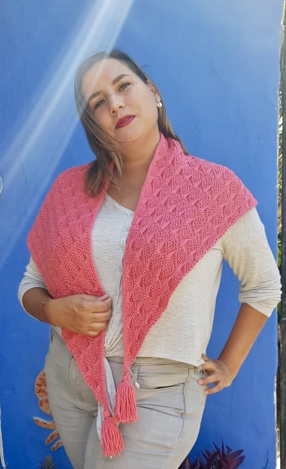 Butterfly Stitch Knitting Shawl