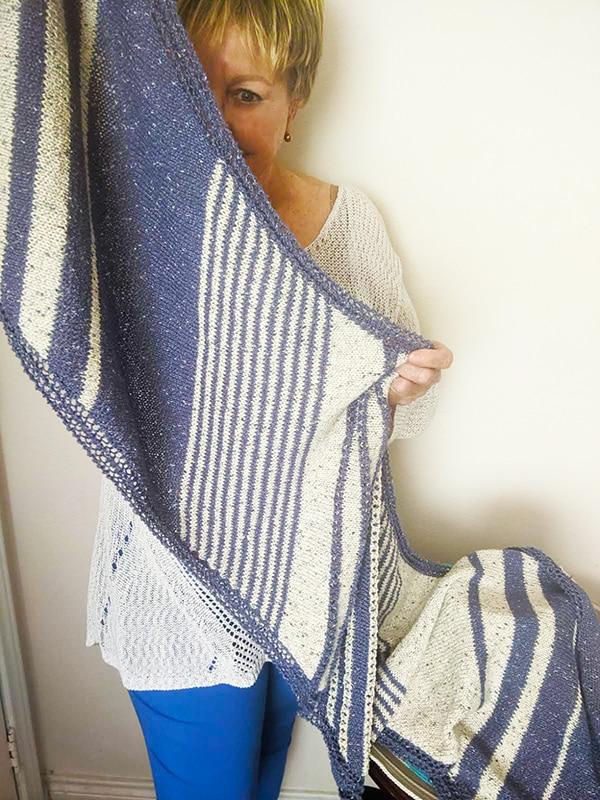 Nautical Shawl Knitting Pattern