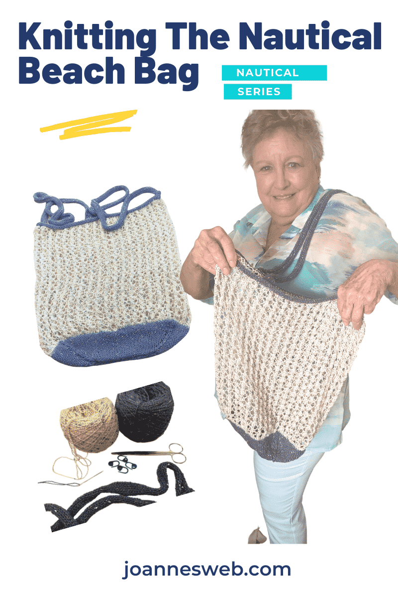 Nautical Knitted Bag