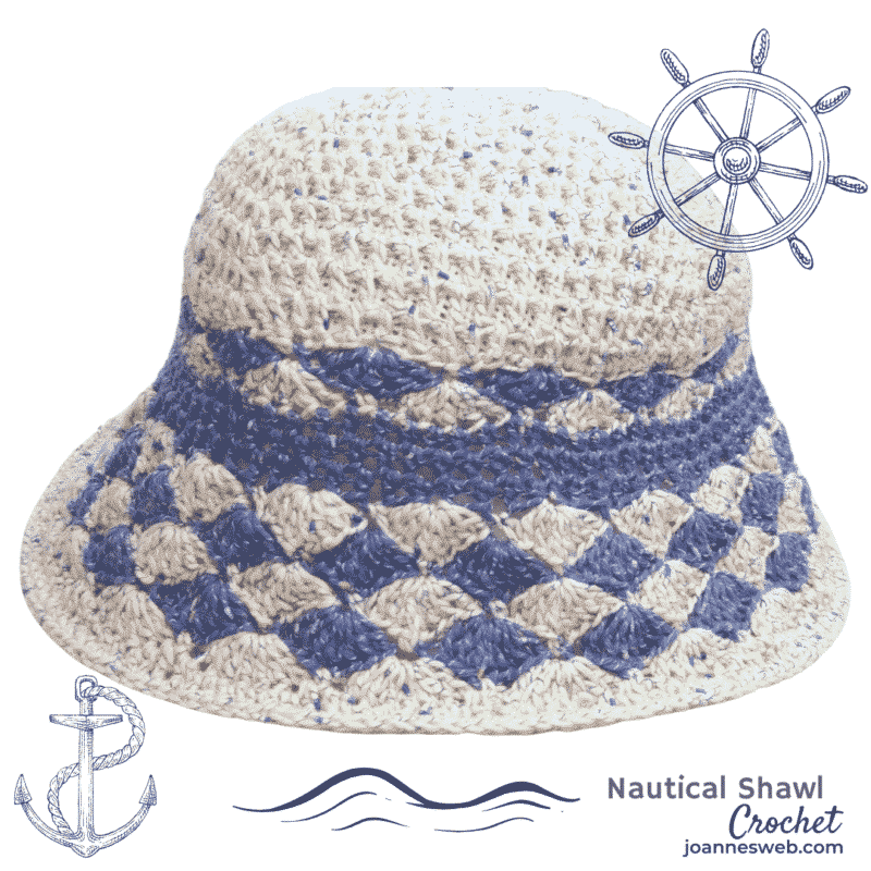 Nautical Crochet Hat