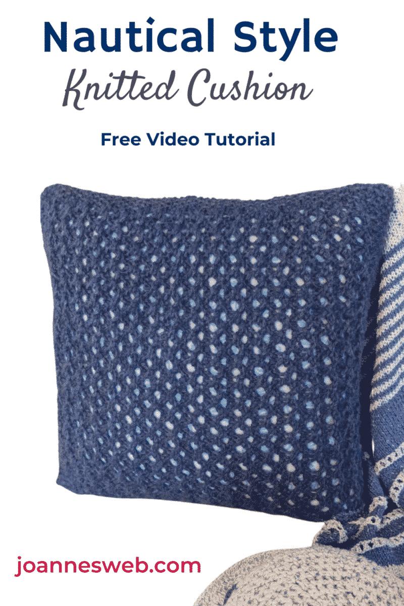 Nautical Style Cushion Cover Knitting
