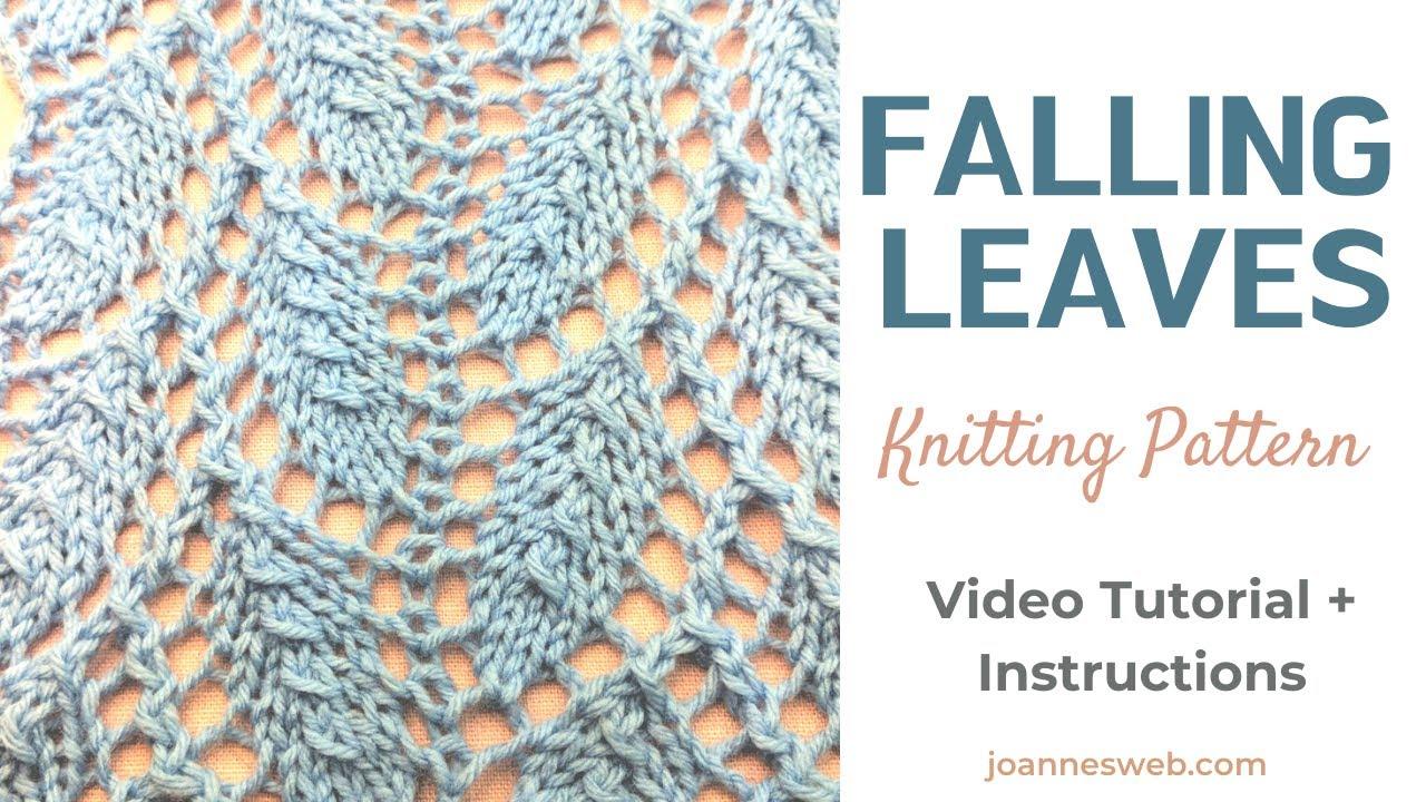 falling leaves knitting patter
