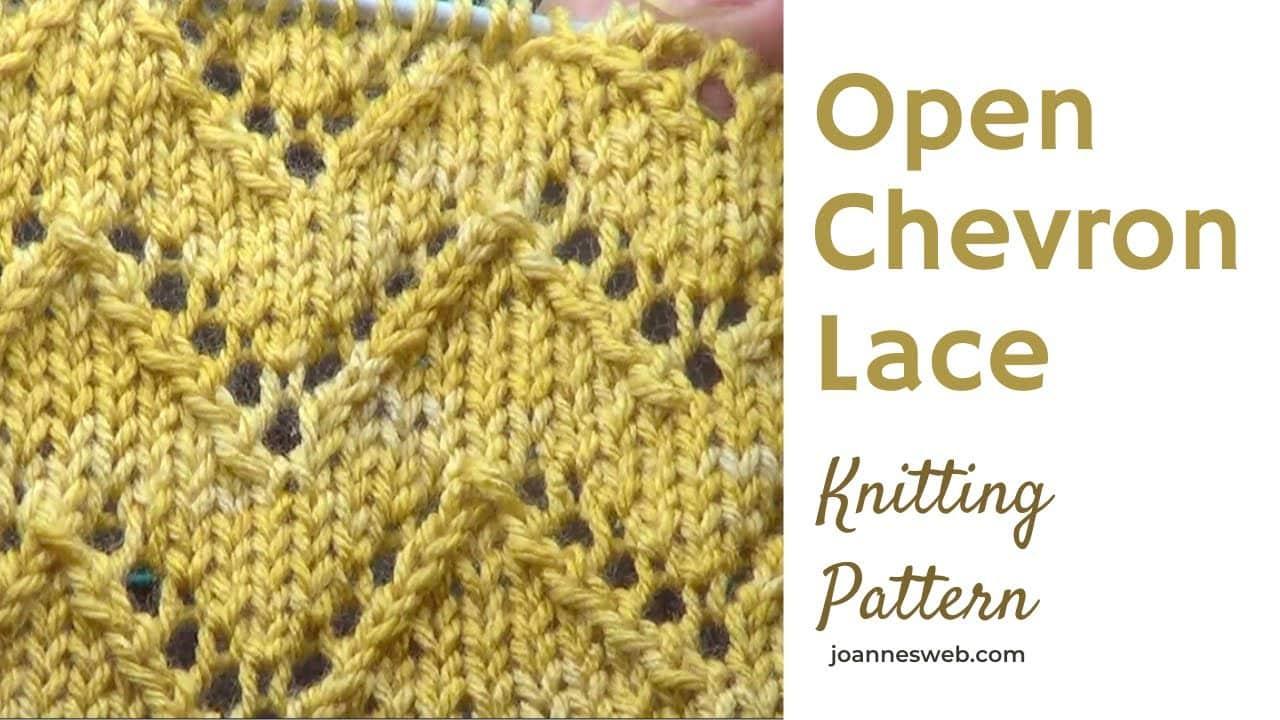 open chevron lace knitting pattern