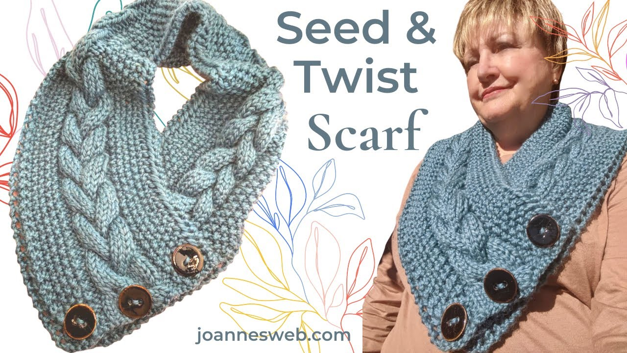 Cable and Rice Stitch Scarf