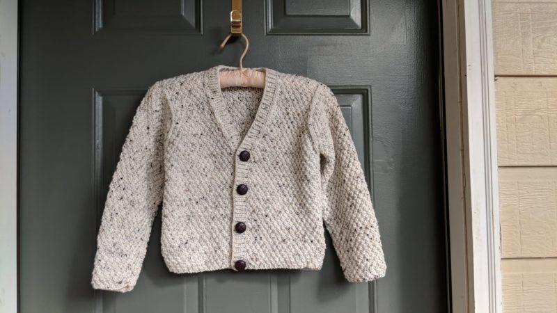 V Neck Cardigan For Boys Knitting Pattern